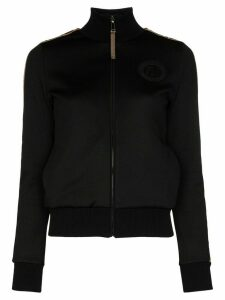 Fendi logo tape zipped track top - Black