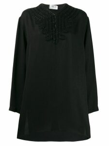 Saint Laurent beaded loose top - Black
