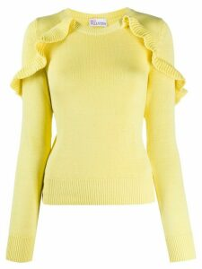 RedValentino frill detail jumper - Yellow