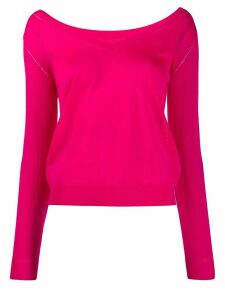 P.A.R.O.S.H. fine knit v-neck jumper - PINK