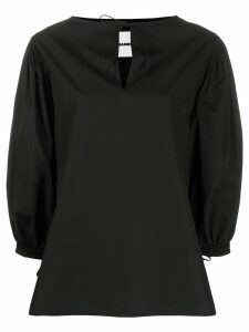 Jil Sander puffed sleeves blouse - Black