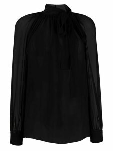 Alberta Ferretti tie neck silk blouse - Black