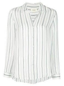 L'Agence striped silk shirt - White