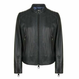 Boss Jafalbe Leather Jacket