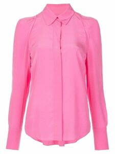 A.L.C. slim-fit silk shirt - PINK