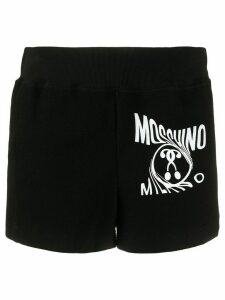 Moschino printed logo track shorts - Black