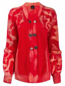 Pinko knitted long sleeve cardigan - Red