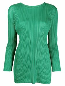 Pleats Please Issey Miyake pleated tunic style top - Green