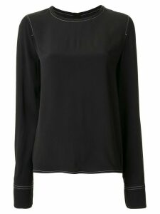 Marni contrasting stitch detail blouse - Black