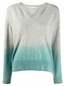 Stella McCartney degradê V-neck jumper - Grey