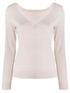 P.A.R.O.S.H. V-neck ribbed knit sweater - PINK