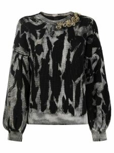 Pinko knitted embellished jumper - Black