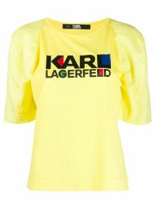 Karl Lagerfeld graphic print T-shirt - Yellow