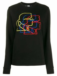 Karl Lagerfeld 3D profile sweatshirt - Black