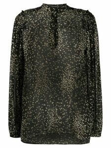 Luisa Cerano irregular polka-dot long-sleeved shirt - Black