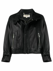 Michael Michael Kors cropped biker jacket - Black