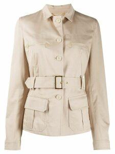 Alberta Ferretti safari jacket - NEUTRALS