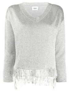 Dondup knitted metallic fringed jumper - Grey
