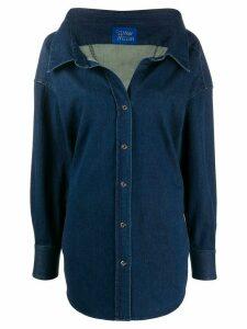 Simon Miller wide collar cotton shirt - Blue