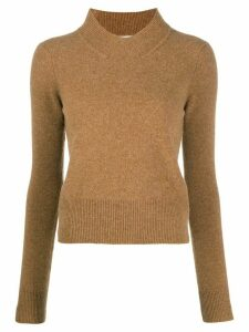 Victoria Beckham standing collar jumper - NEUTRALS