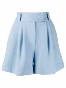 Styland high-waisted wide leg shorts - Blue