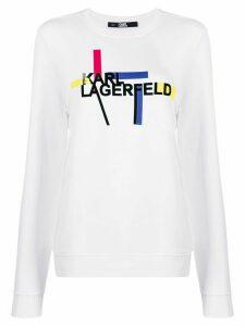 Karl Lagerfeld Bauhaus logo sweatshirt - White