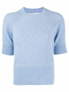Victoria Beckham short-sleeve knitted top - Blue