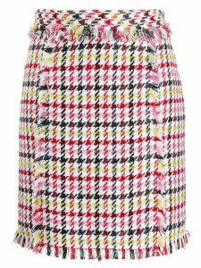 Karl Lagerfeld houndstooth boucle skirt - White