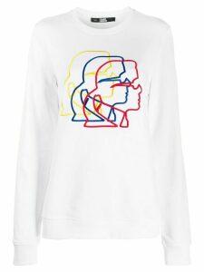 Karl Lagerfeld 3D profile sweatshirt - White