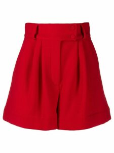 Styland high-waisted wide leg shorts - Red