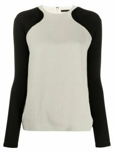 Haider Ackermann two-tone lightweight jumper - Grey