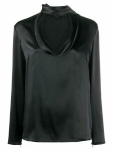 Tom Ford silk tie-neck blouse - Black