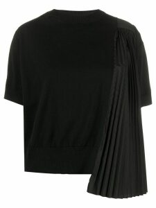 Sacai pleated knitted top - Black