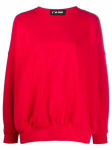 Styland oversized round neck sweatshirt - Red