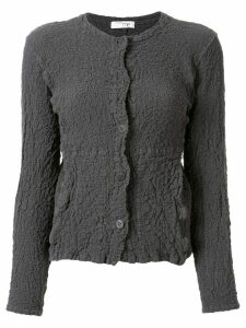 Issey Miyake Cauliflower distressed knit square neck cardigan - Grey
