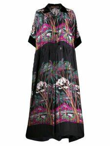 Sacai tropical print maxi dress - Blue