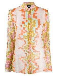 Just Cavalli snake print shirt - PINK