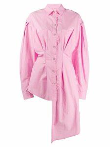 Natasha Zinko asymmetric fitted-waist shirt - PINK
