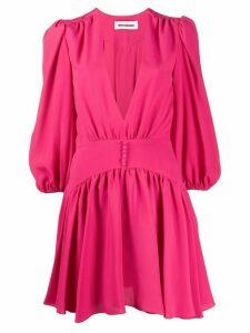 Brognano V-neck flared dress - PINK