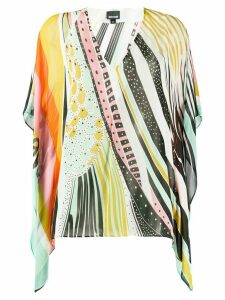 Just Cavalli colour-block flared blouse - Yellow