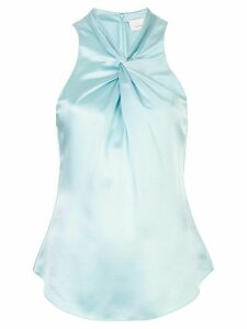 Cinq A Sept Lauren twisted satin top - Blue