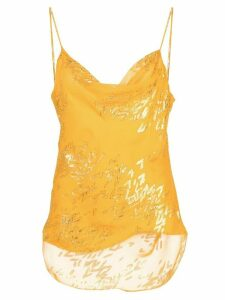 Cinq A Sept Marta jacquard cami top - Yellow
