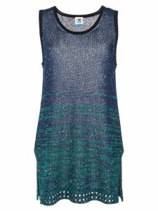 M Missoni sequinned colour block top - Blue