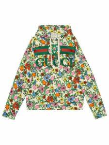 Gucci Pop Flora printed hoodie - Green