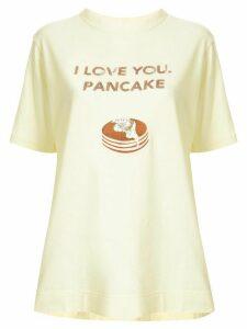 Tu es mon TRÉSOR 'I love you, pancake' sequined T-shirt - Yellow