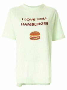 Tu es mon TRÉSOR 'I love you. Hamburger' sequined T-shirt - Green