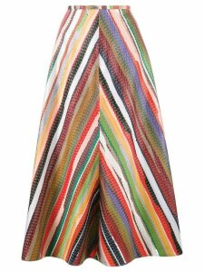 Rosie Assoulin rainbow stripe A-line skirt - Red