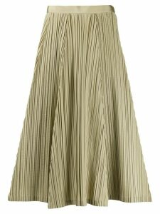 Salvatore Ferragamo pleated A-line skirt - NEUTRALS