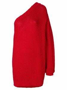 Stella McCartney one-shoulder knitted jumper - Red