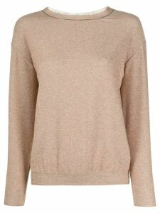 Fabiana Filippi monili-trimmed jumper - NEUTRALS